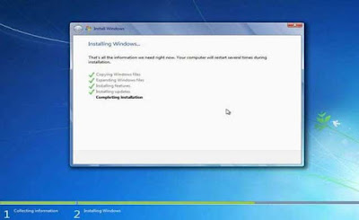 Cara Install Ulang Windows 7
