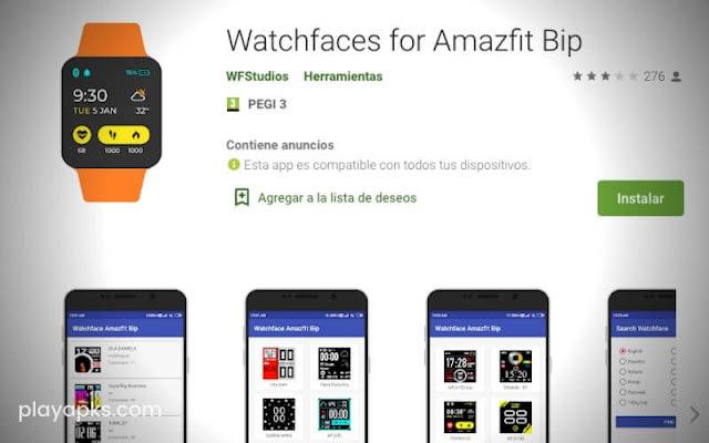 Descargar Watchfaces for Amazfit Bip para android