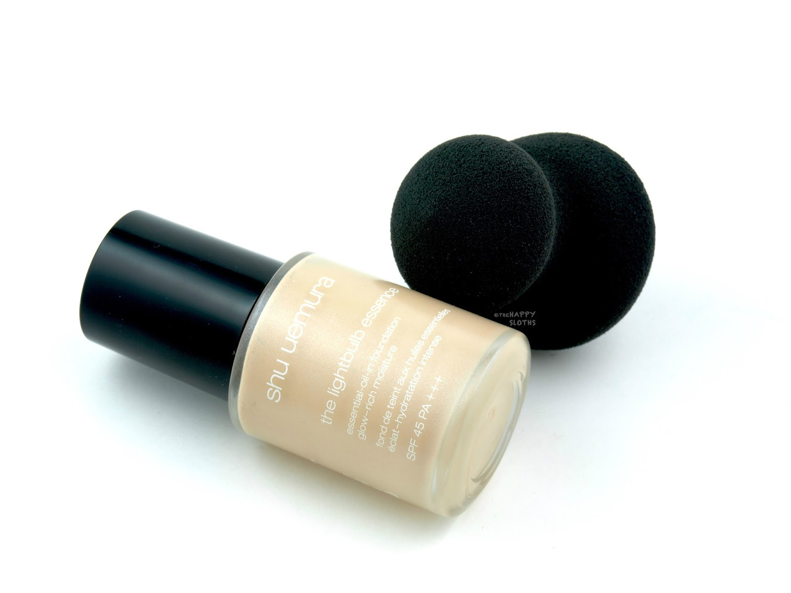 Shu Uemura Lightbulb Essence Foundation & Lightbulb Sponge: Review and Swatches