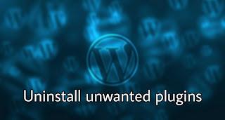 Increase speed of website - Uninstall unwanted plugins