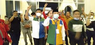 Debat Ke-2 , Syafril Nursal Terlihat Bersemangat Didampingi Fachrori Umar Menuju Debat Cawagub