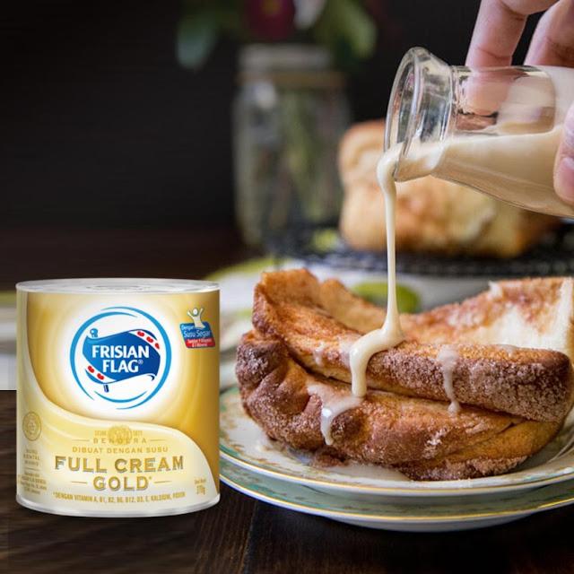 Susu Kental Manis Frisian Flag Gold Buat Sarapan Roti Nikmat