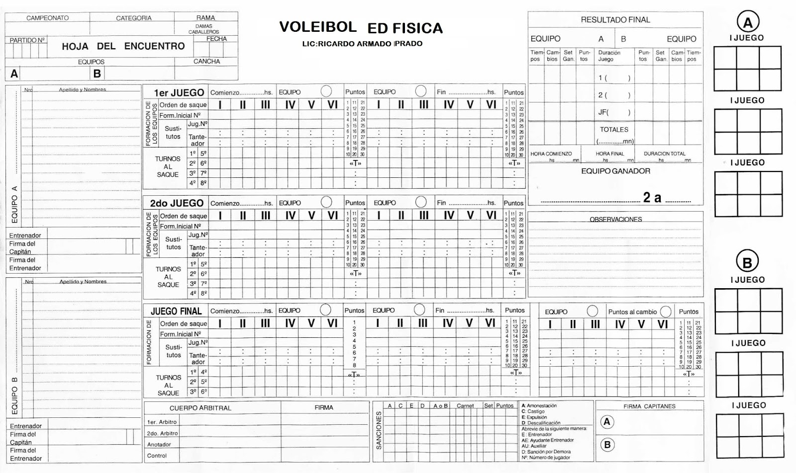 planilla de voleibol descargar facebook
