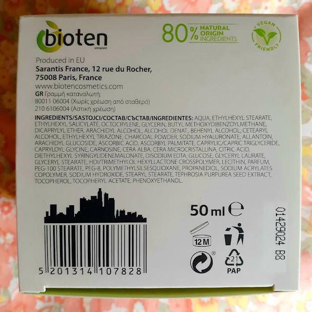 Ingredientes bioten detox creme de dia