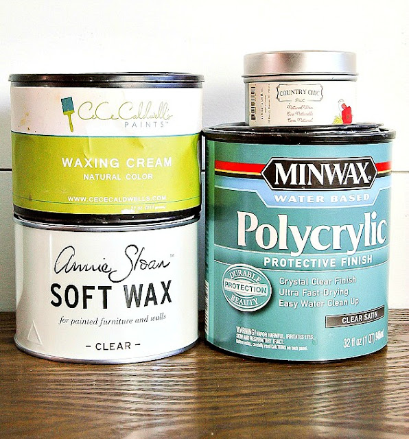 Wax and polycrylic for sealing painted furniture