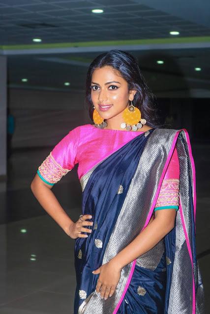 Amala Paul Stills At Bhaskar Oru Rascal Movie Audio Launch