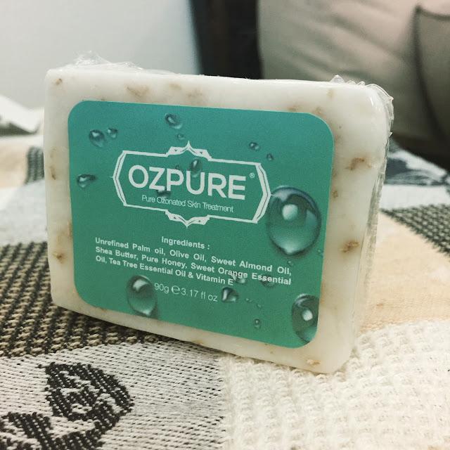 sabun ozpure untuk mencuci bahagian payu dara yang gatal