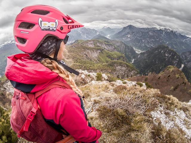 Ausblick MTB Tour Picco  Peloso / Pusti Gost im Val Resia / Resiatal