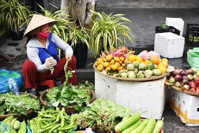 Mercado central de Hoi An, Vietnam