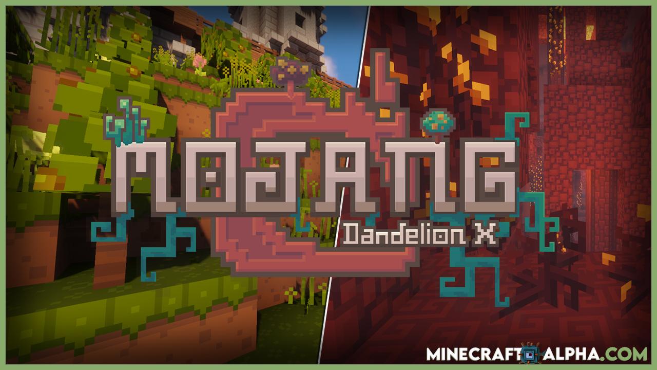 Minecraft Dandelion X Resource Pack