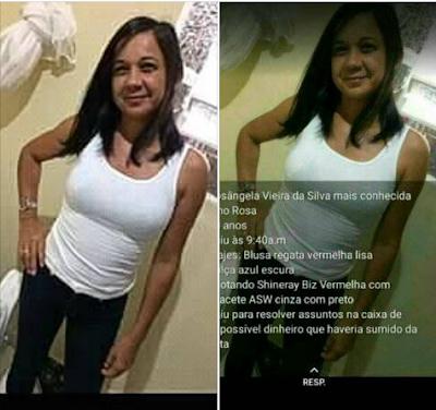 Moradora de Delmiro Gouveia  desaparece após ir ao banco
