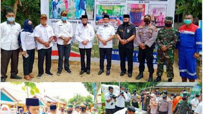 Kapolsek Kerumutan dan Upika Hadiri acara Penandatangan MOU Kampung PROKLIM IJO di Desa Pematang Tinggi