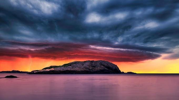 Natureza, Mar, Ilha, Tempestade, Paisagem