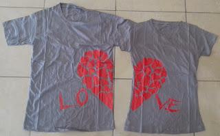 Jual Online Love Daun Couple Murah Jakarta Bahan Combed Terbaru