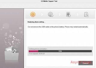 LG Flash tool - flashing process