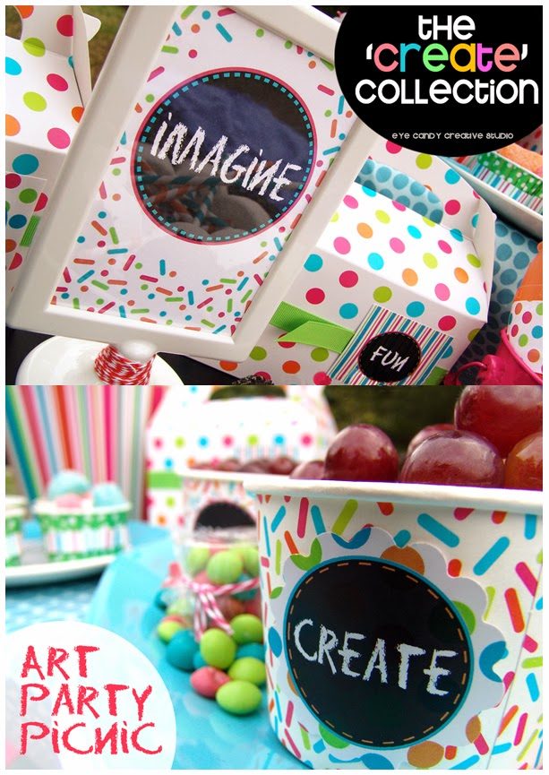 create, art party, kids art party, art party picnic, imagine, art party ideas