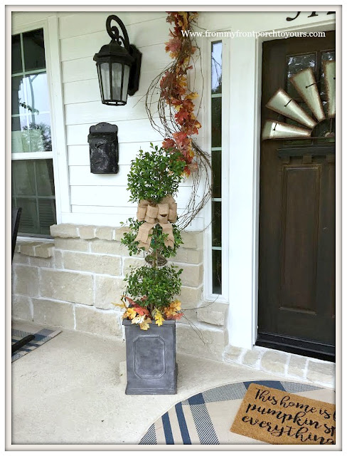 Topiary-Porch-Fall-Burlap-Bow-Simple-From My Front Porch To Yours