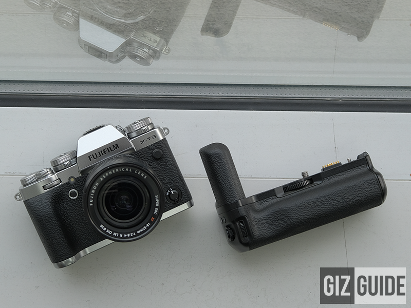 The silver X-T3 with the Vertical Booster Grip!