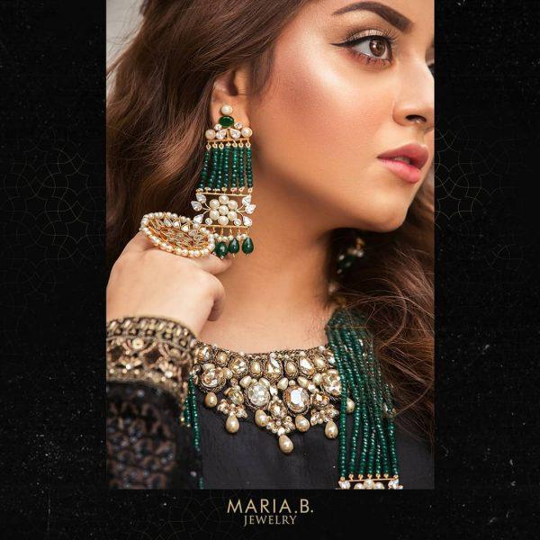 Alizeh Shah Stunning Shoot for Maria B Jewelry