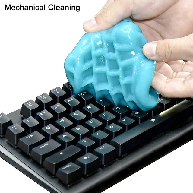 A keyboard cleaning gel