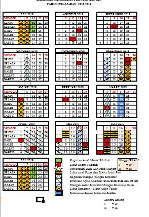 Kalender Pendidikan Tahun Ajaran 2019/2020 Provinsi Banten