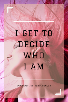 I get to decide who I am - no correspondence will be entered into