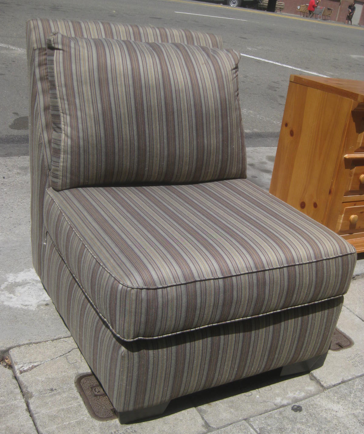 UHURU FURNITURE & COLLECTIBLES: SOLD - Armless Upholstered ...