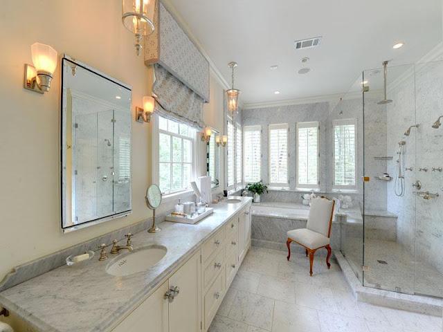 Stylish white bathroom sets Stylish white bathroom sets 30 Marble Bathroom Design Ideas 20