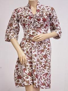 Model Dress Batik Modern Simple