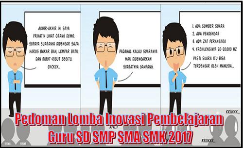 Pedoman Lomba Inovasi Pembelajaran Guru Sd Smp Sma Smk 2017 Id Guru Indonesia