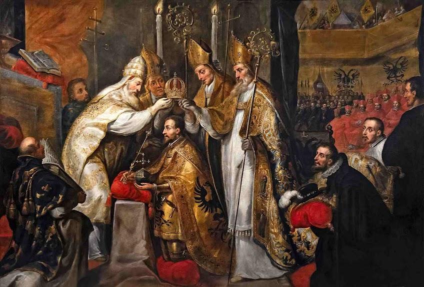Clemente VII corona Carlos V de Hasburgo, Basilica de San Petronio, Bologna, Museo Ingres Bourdelle, Gaspar de Crayer (1584 – 1669)