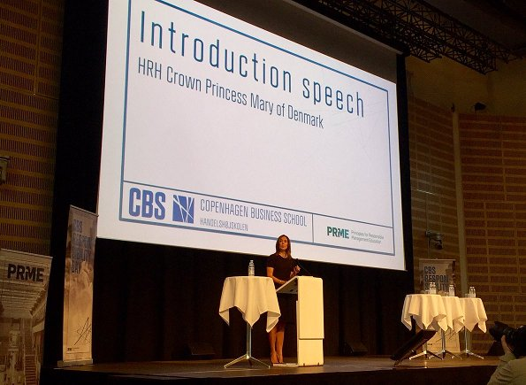 Crown Princess Mary of Denmark visited the Children's Phone Support Center and attended the CBS Responsibility Day event