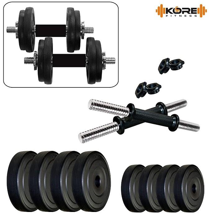 Kore PVC-DM COMBO16 Home Gym Dumbbells Kit by Kore in India