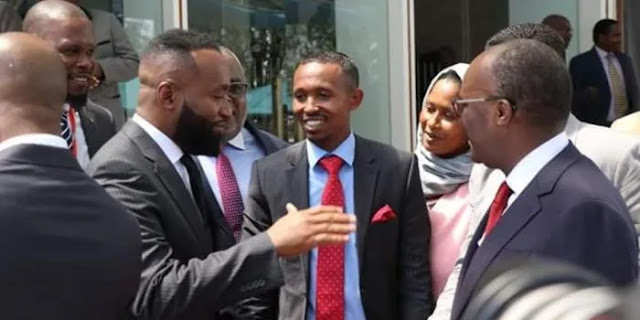 Mombasa Goivernor Hassan Joho with Nyali MP Mohammed Ali