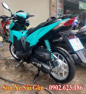 Mẫu Xe Click Thái sơn màu xanh ngọc cực đẹp