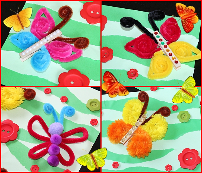 Motylki Z Drucikow Kreatywnych Kreatywnie W Domu
