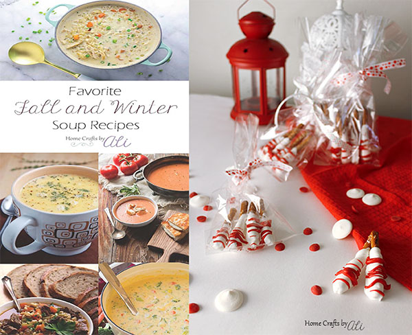 Recent posts on Home Crafts by Ali soup roundup and dipped pretzel treats