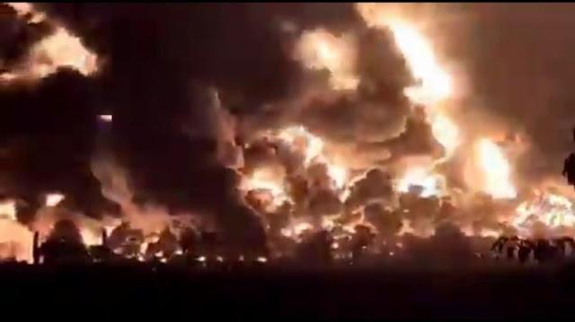 Kilang Minyak Pertamina di Balongan Diduga Terbakar akibat Tersambar Petir