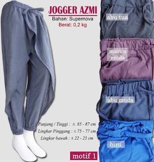 Jogger model rok cantik terbaru - azmi motif 1