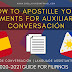 How to Apostille Your Documents for Auxiliares de Conversación