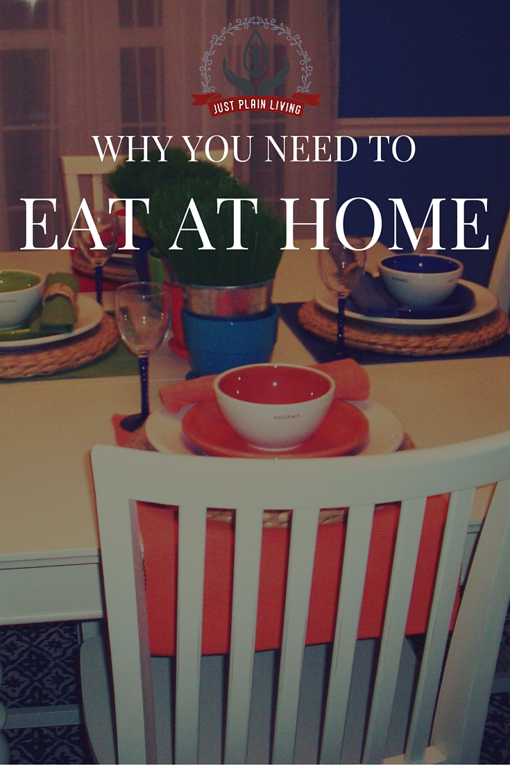 Find out why you really need to be eating your meals at home and not at restaurants.