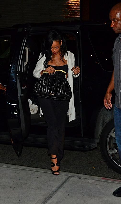 eb077d6571e Saleluxe s Blog.The fashion world!  Oh my god.Rihanna s Miu Miu ...