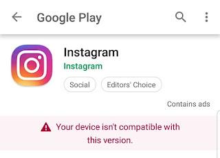 Cara Mengatasi Perangkat Anda Tidak Kompatibel Instal Instagram