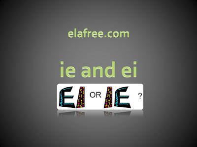 ie and ei Spelling Worksheet