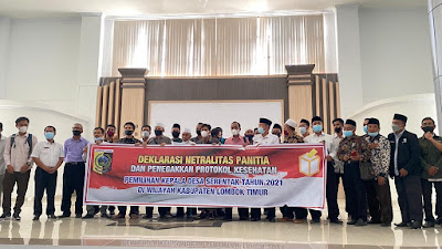 Panitia Pilkades Serentak di Lotim Deklarasikan Pilkades Damai Tahun 2021