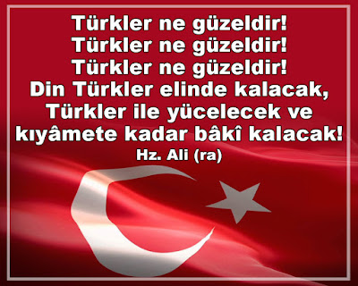 türkler, ayyıldız, türk bayrağı, Hz. Ali, ilmin kapısı, islam, islamiyet, din, kıyamet, türkler ne güzeldir, nimel etrak, şeyh şerafeddin, zeynel abidin, menakıbi şerefiyye