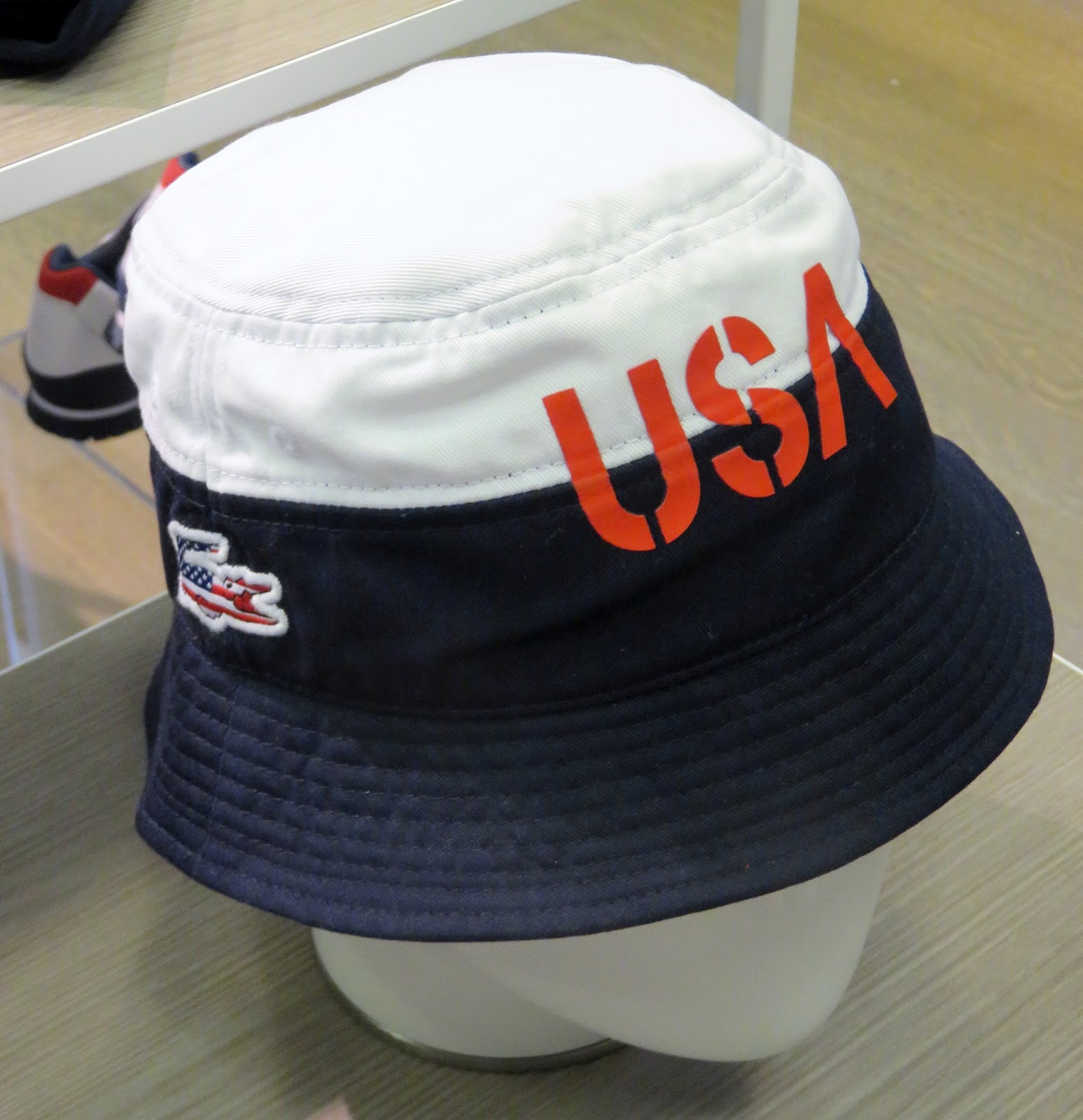 Lacoste-goes croc appropriate flag -wise...pictured USA ready for Rio  bucket hat---other countries available too 0b964c29ea8f