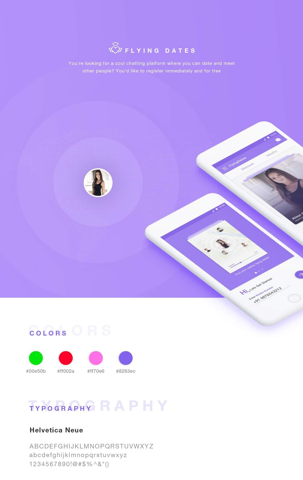 Flying Dates IOS Dating App UI Kit - Artist Repo | Hand picked