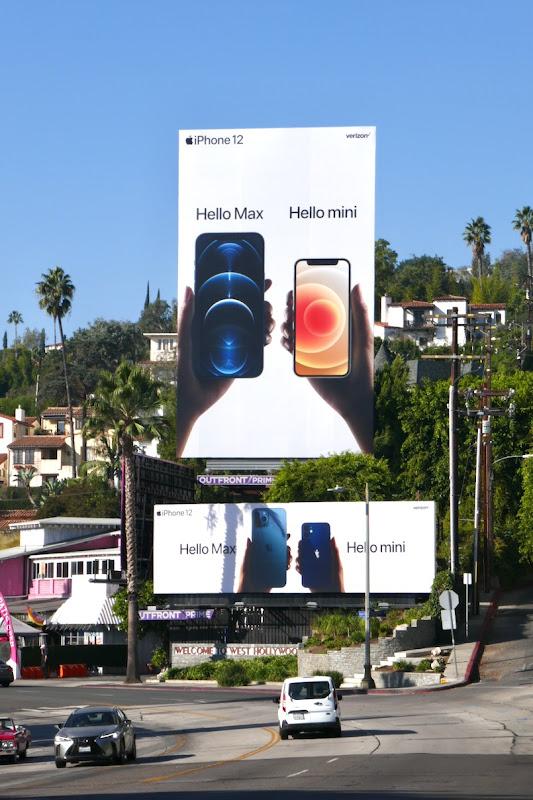 Apple iPhone 12 Hello Max mini billboards