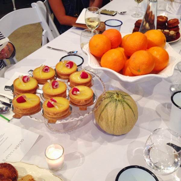 Lemon tarts from Beaucoup Bakery at Vancouver boutique Oliver + Lilly's fall 2014 media preview